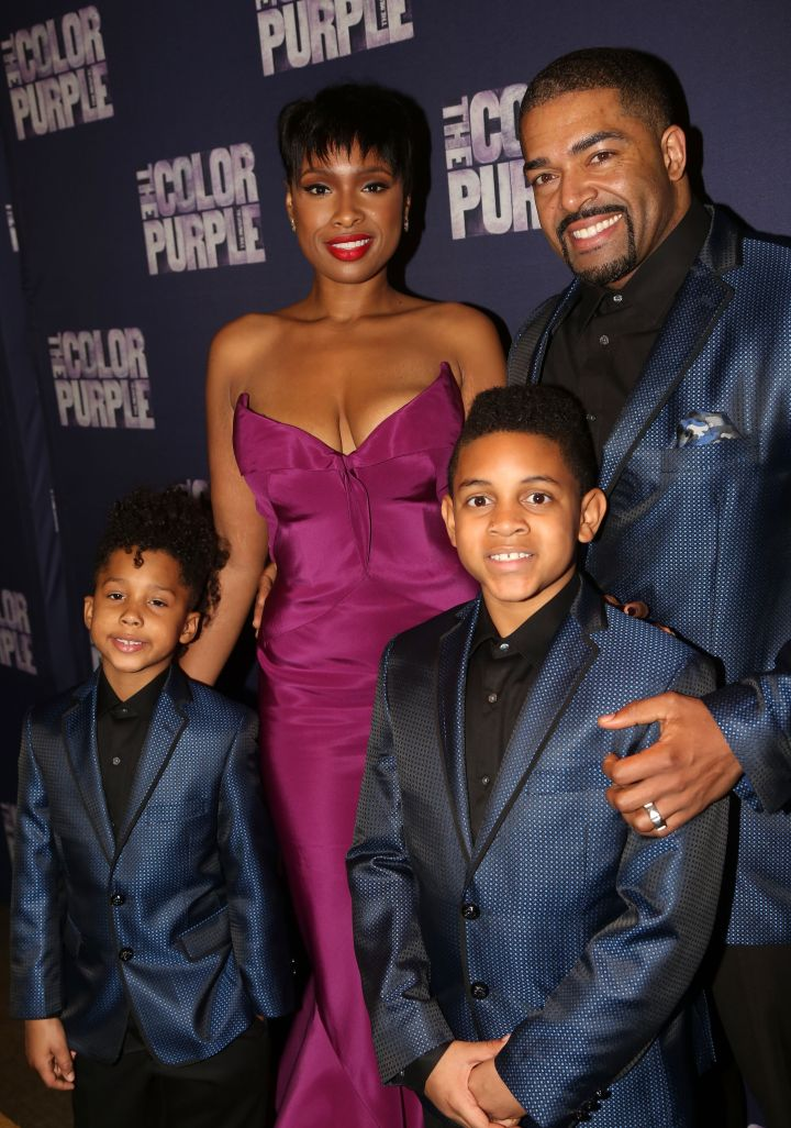 (L-R) David Otunga Jr, Jennifer Hudson, Nephew of Jennifer Hudson and David Otunga
