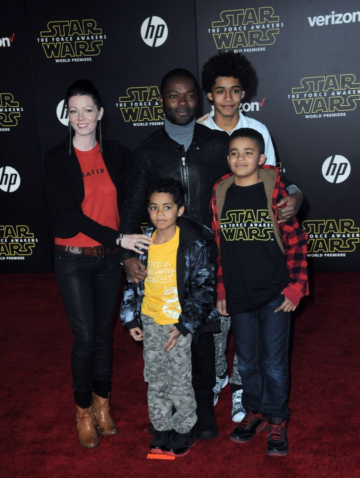 Actor David Oyelowo with family