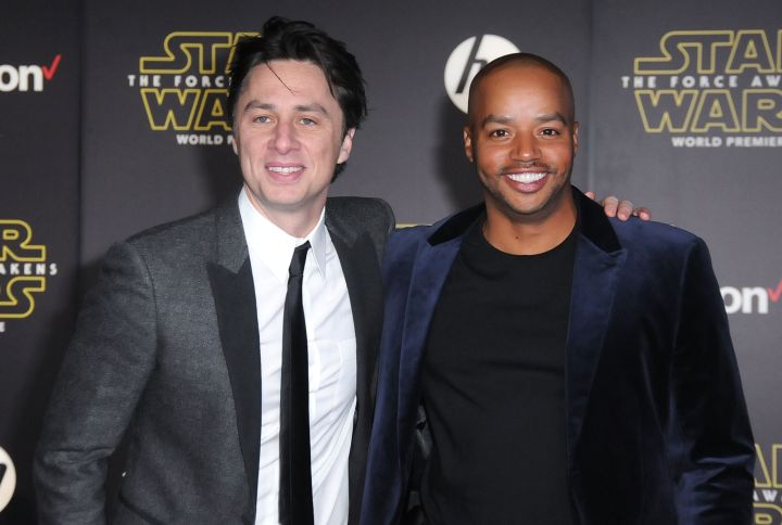 Actors Zach Braff and Donald Faison