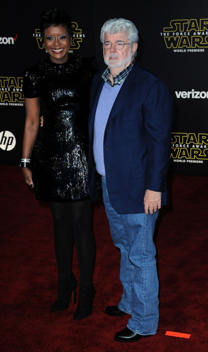 Director George Lucas and wife Mellody Hobson