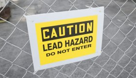 Lead warning sign.