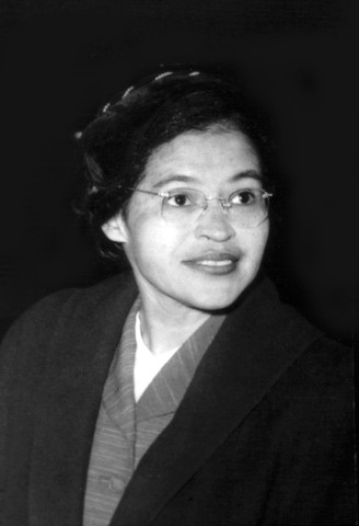 Portrait of Rosa Park, who organized the boycott of buses in Montgomery, Alabama, 1955, 20th century, United States, New York, Schomburg Center.