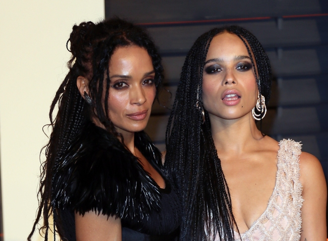 Zoe Kravitz and mother Lisa Bonet at 2015 Vanity Fair Oscar Party