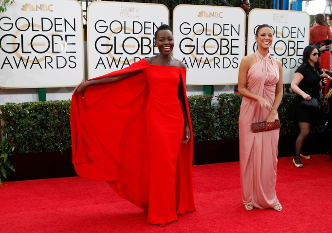 BEVERLY HILLS, CA - January 12, 2014 Lupita Nyong'o arrives for the 71st Annual Golden Globe Awa