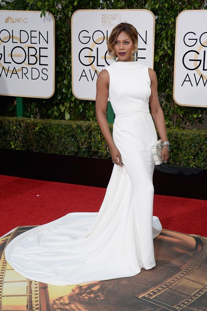 Laverne Cox at the 2016 Golden Globe Awards
