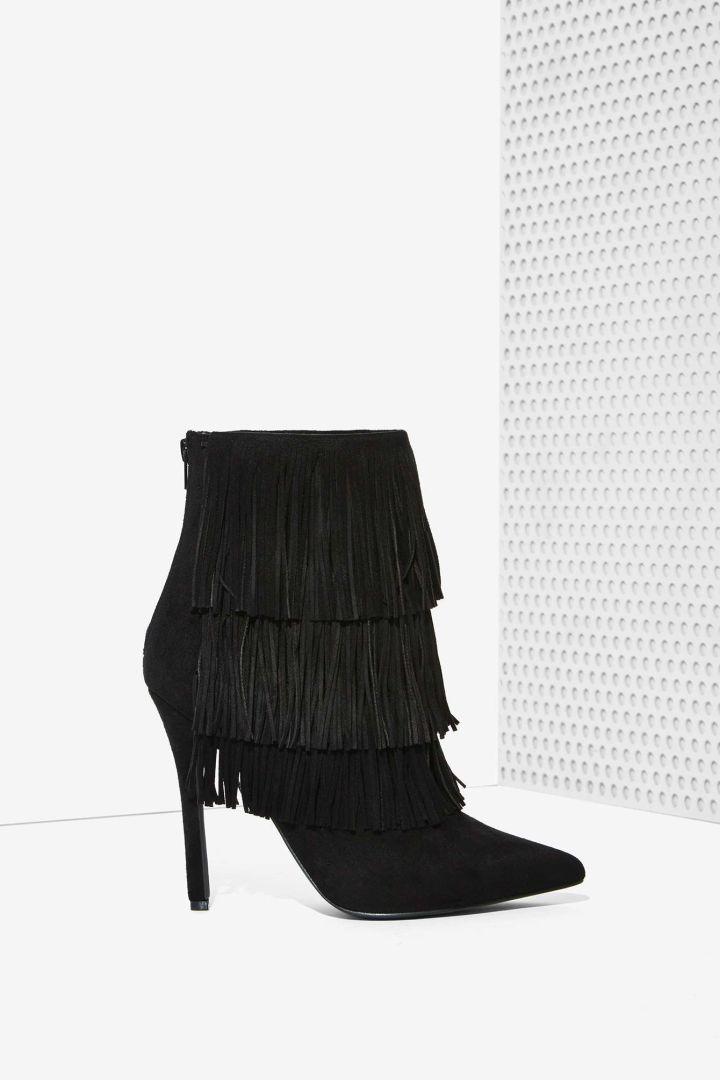 Fringe Ankle Boot