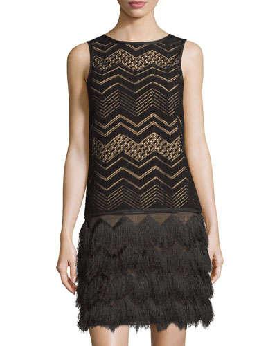 Zigzag Fringe Dress