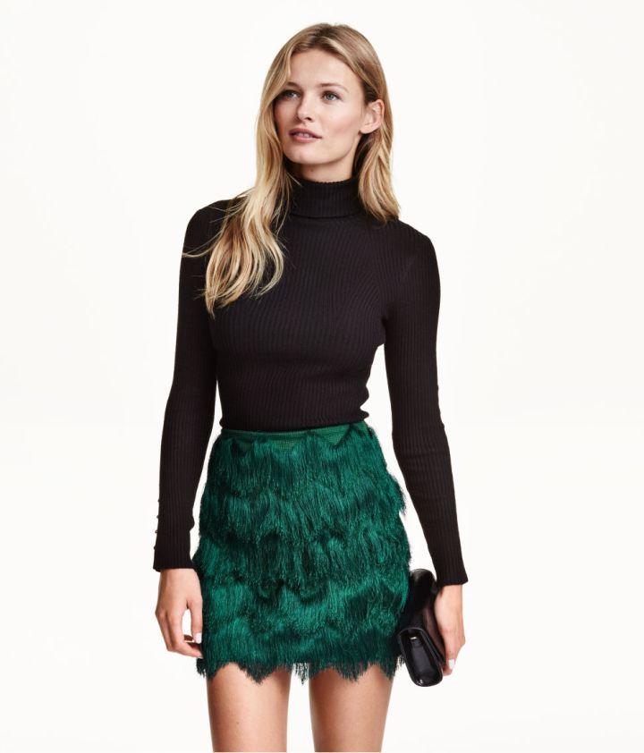 Fringe Miniskirt