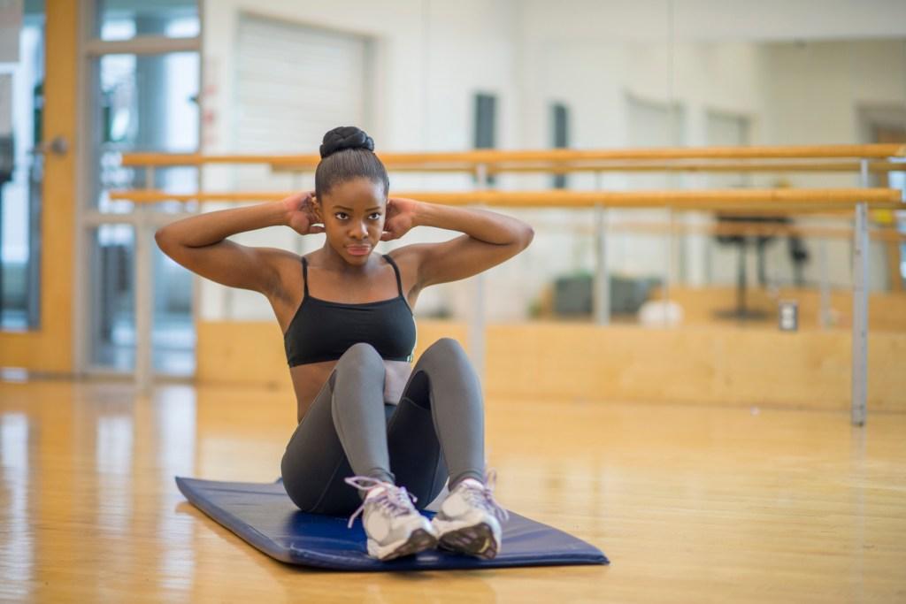 Sit Ups at the Gym