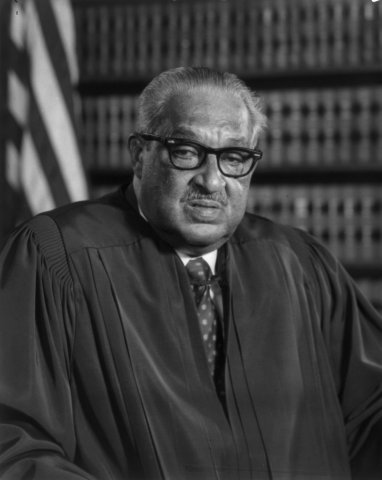 Thurgood Marshall (1908-1993) Associate Justice of the United Nations Supreme Court, serving from October 1967 until October 1991. Marshall was the Court's 96th justice and its first African-American justice.