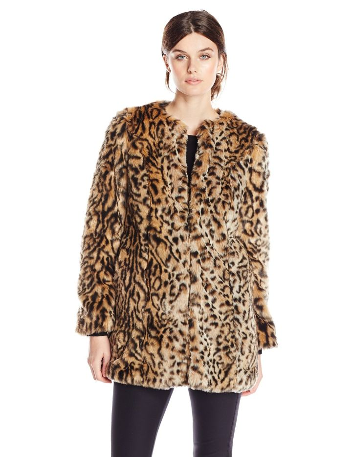 Embrace animal print outerwear.