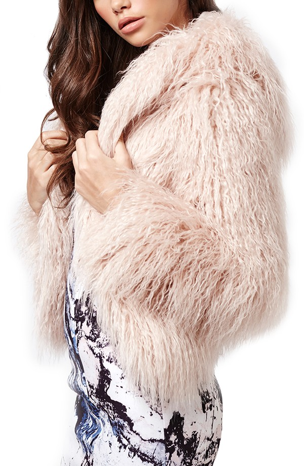 Invest in a bold faux fur coat.