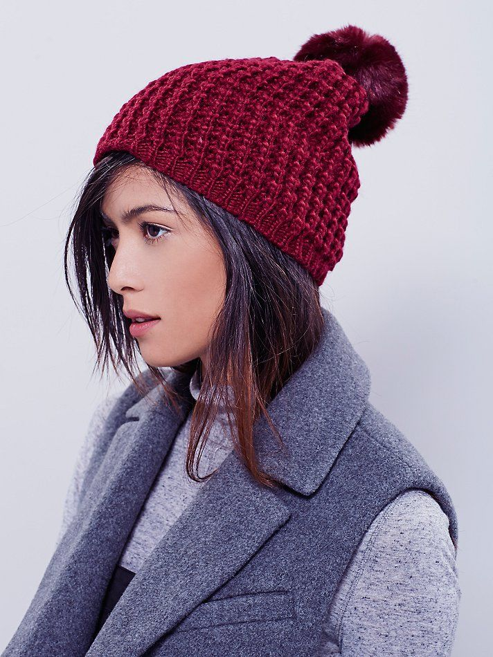 Choose a playful winter hat.