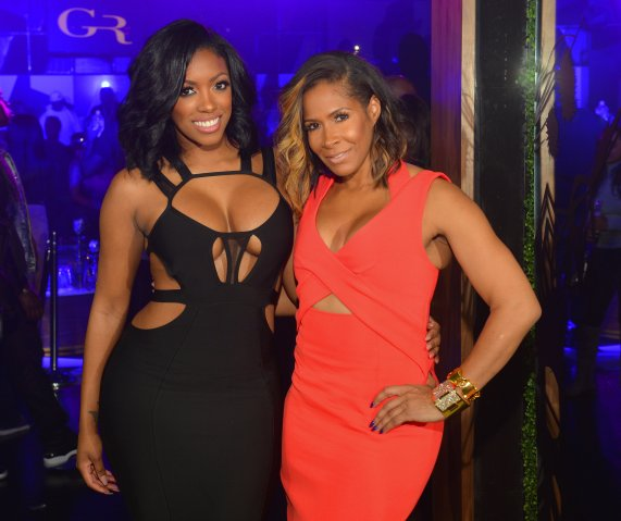 Porsha Williams and Kenny Burns Host Gold Room