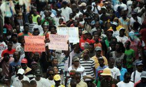 HAITI-VOTE-ELECTIONS-PROTEST