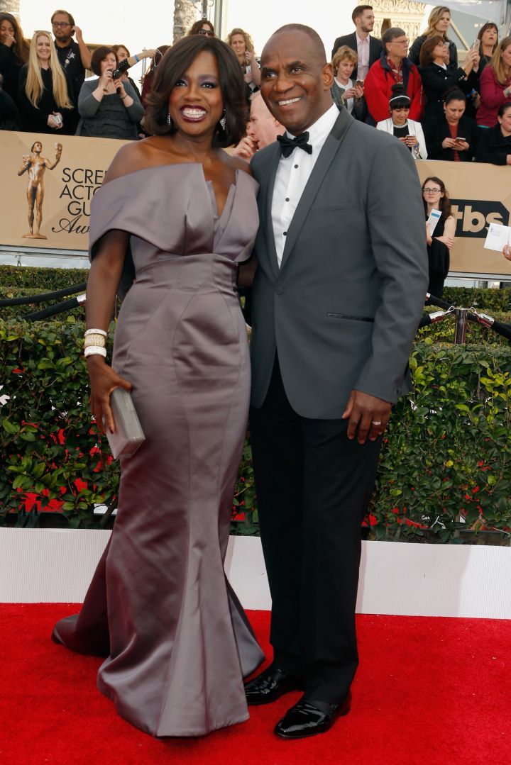 Actress Viola Davis and actor Julius Tennon