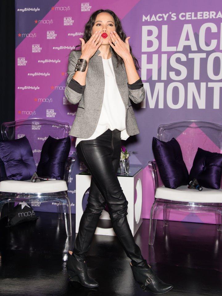 Jurnee Smollett-Bell attends Macy's to Celebrate Black History Month
