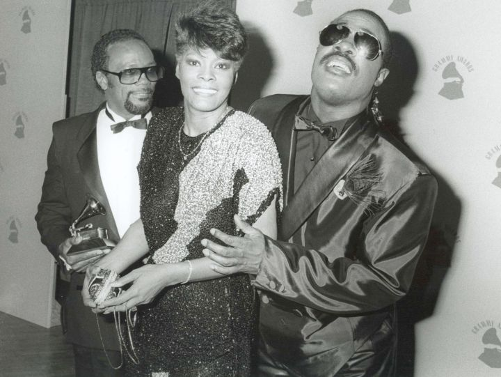 Quincy Jones, Dionne Warwick and Stevie Wonder