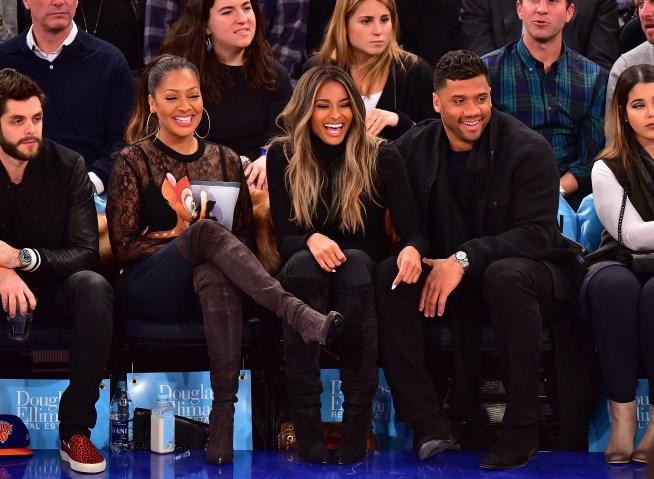 Celebrities Attend The Washington Wizards Vs New York Knicks Game - February 09, 2016