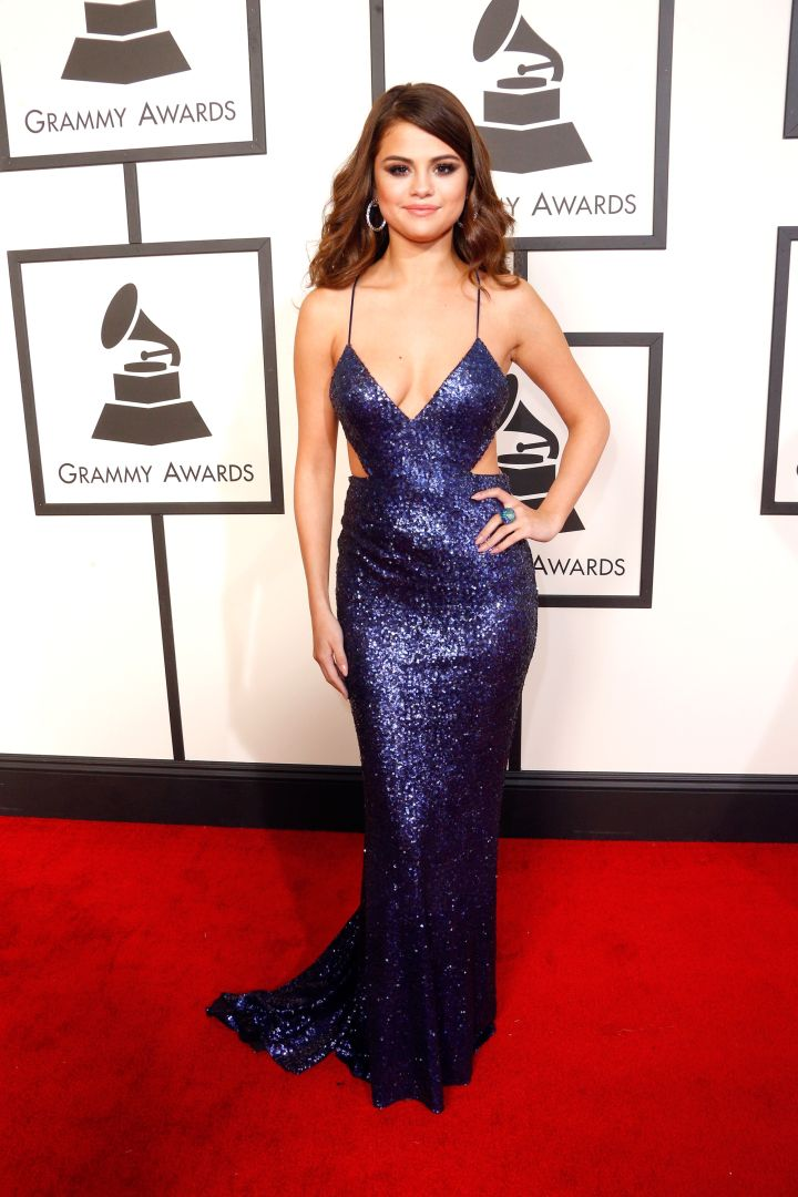 Selena Gomez at the 58th Annual Grammy Awards