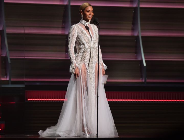 Beyonce at the 58th Annual Grammy Awards