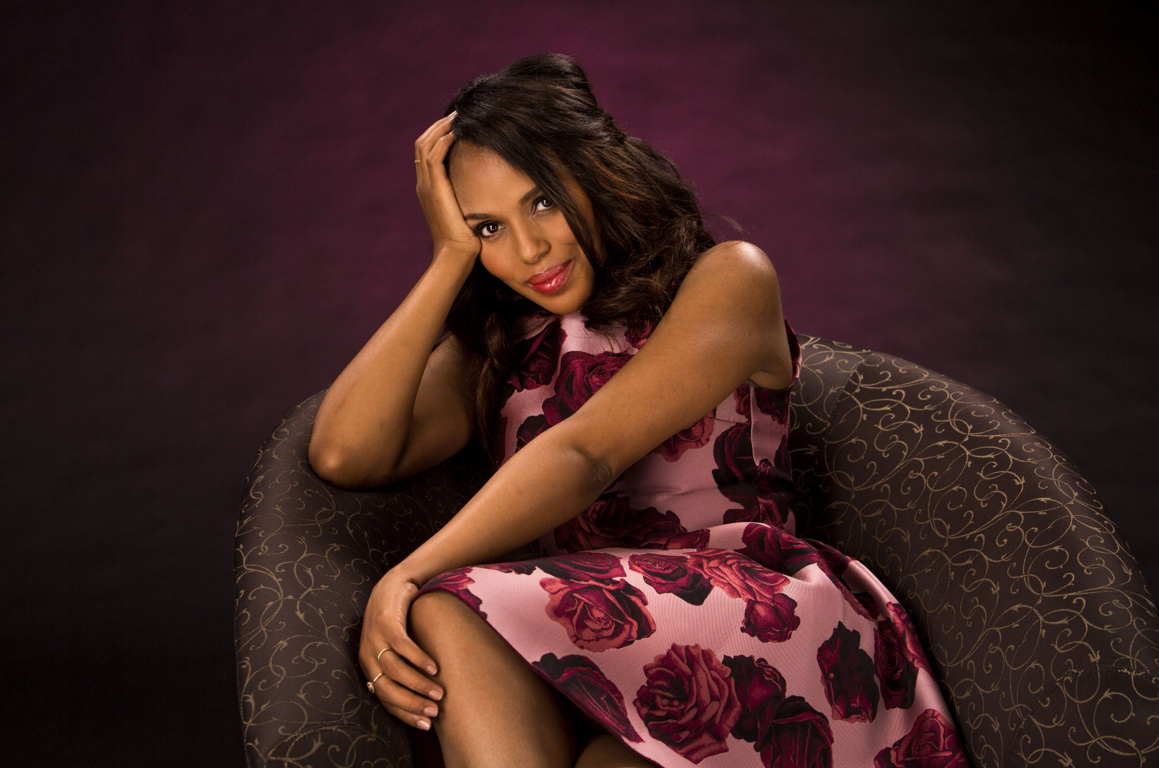 LOS ANGELES, CA - JUNE 10, 2014 - Emmy award contender Kerry Washington of TV series 'Scandal' photo