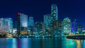 Panorama of Miami at night