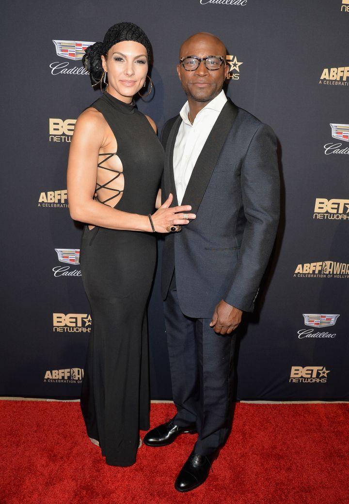 Actor Taye Diggs (R) and Amanza Smith Brown