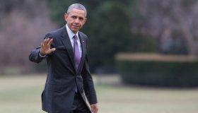 President Returns To Washington From Milwaukee