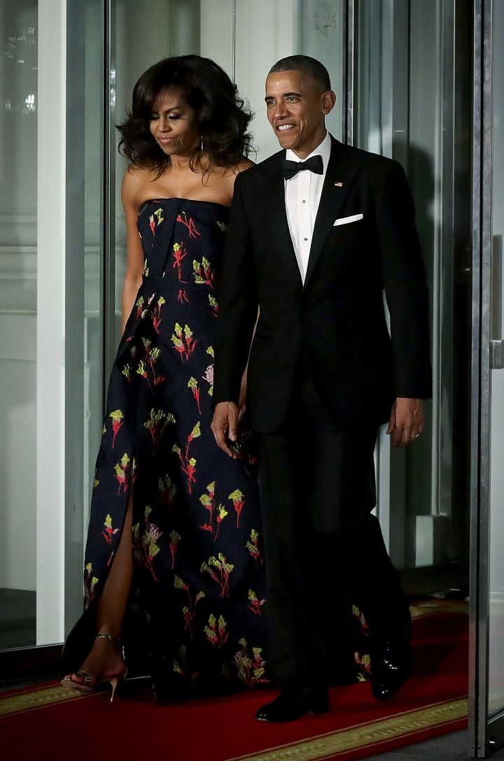 Barack & Michelle Arrive At The State Dinner