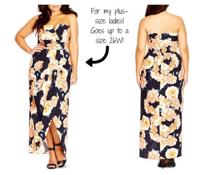 City Chic 'Tulip Time' Floral Print Maxi Dress (Plus Size)