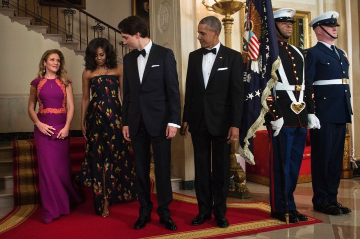 Our Fly POTUS and Canadian Prime Minster Gaze At Their Beautiful Wives