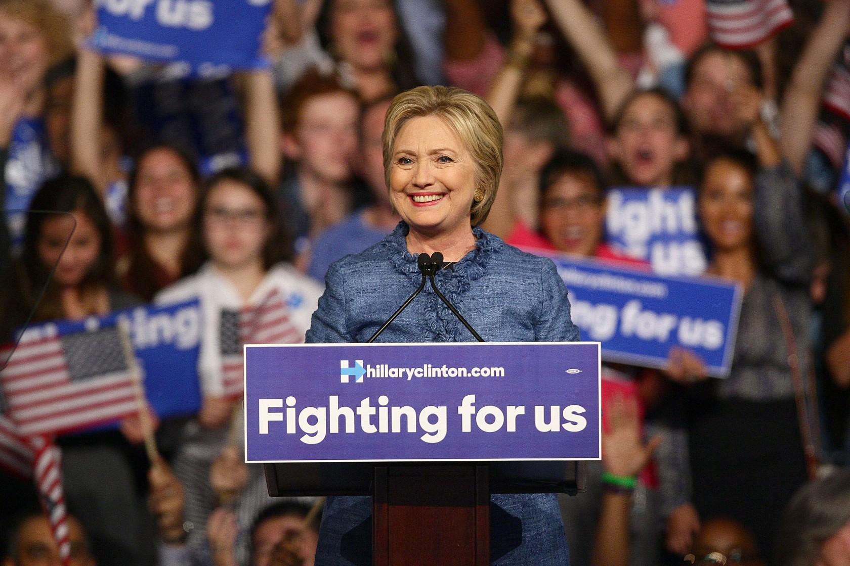 Hillary Clinton Primary Night Event In Miami