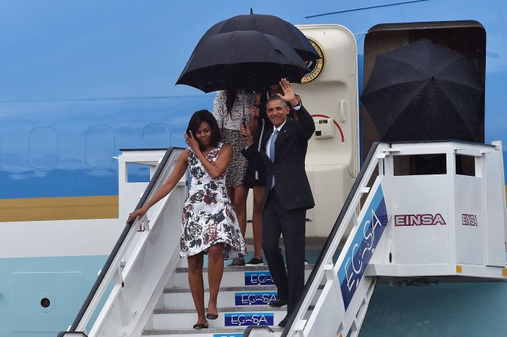 President Obama Arrives In Cuba For Historic Visit To Island