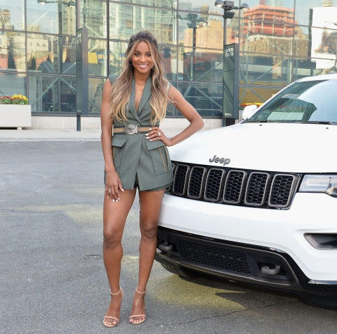 Ciara Celebrates The Jeep Brand's 75th Anniversary By Visiting Camp Jeep At The New York Auto Show
