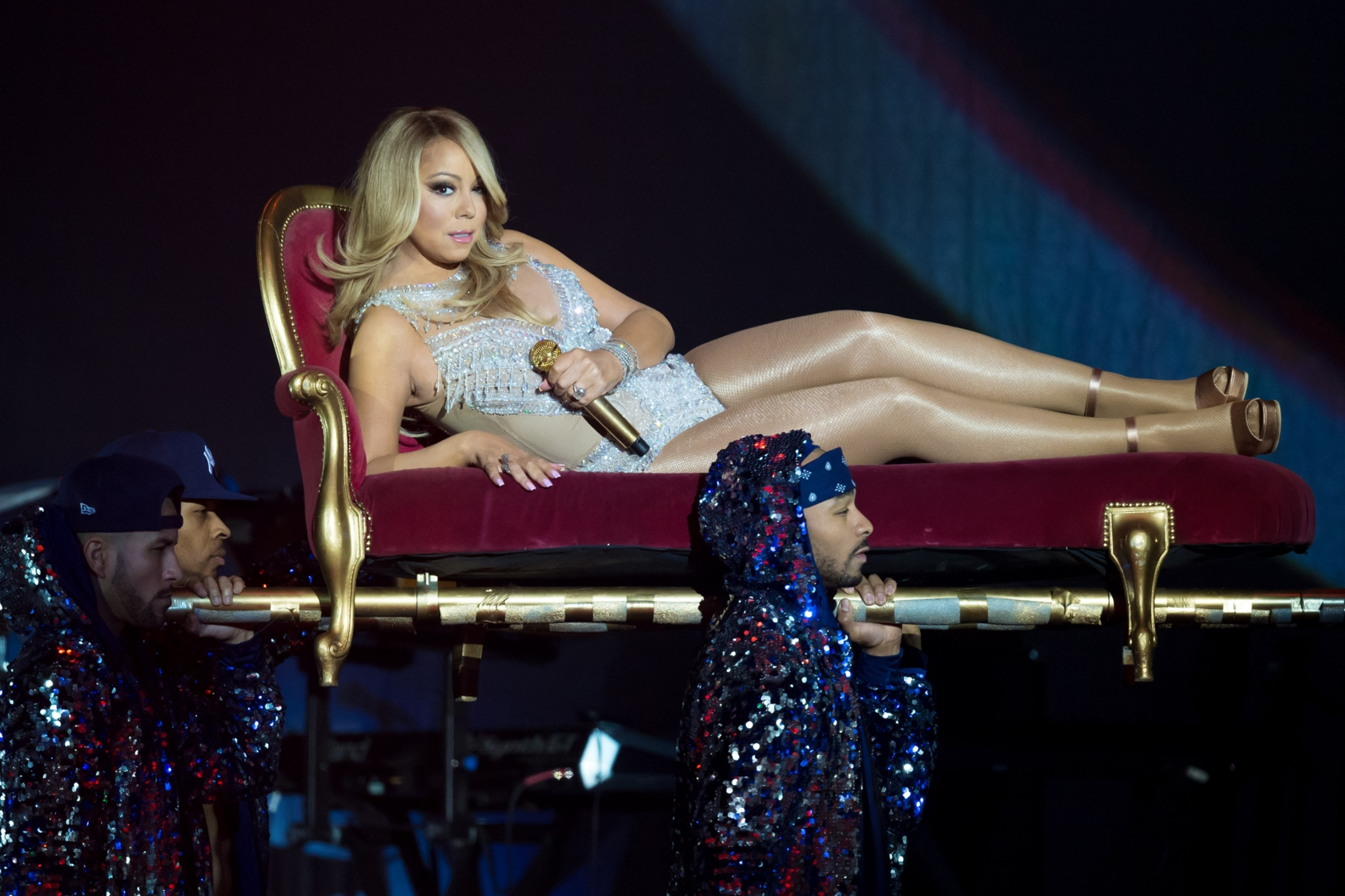 Mariah Carey Performs At The O2 Arena In London