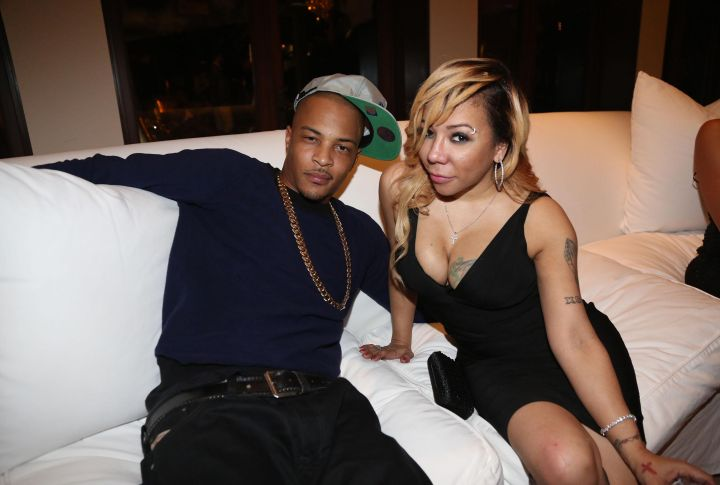 T.I. And Tiny Just Chillin' On A Sofa