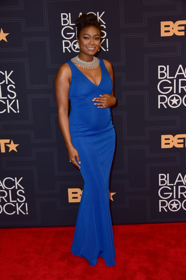 A Glowing (And Very Pregnant) Tatyana Ali