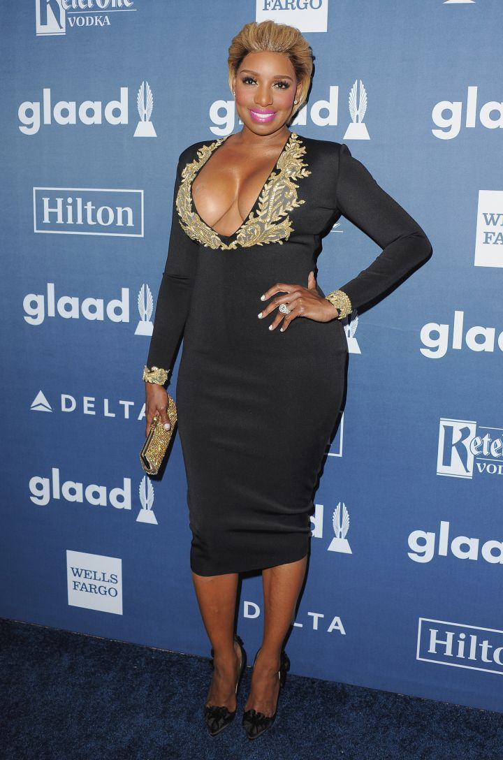We love how NeNe embraces her curves, here in a plunging neckline.