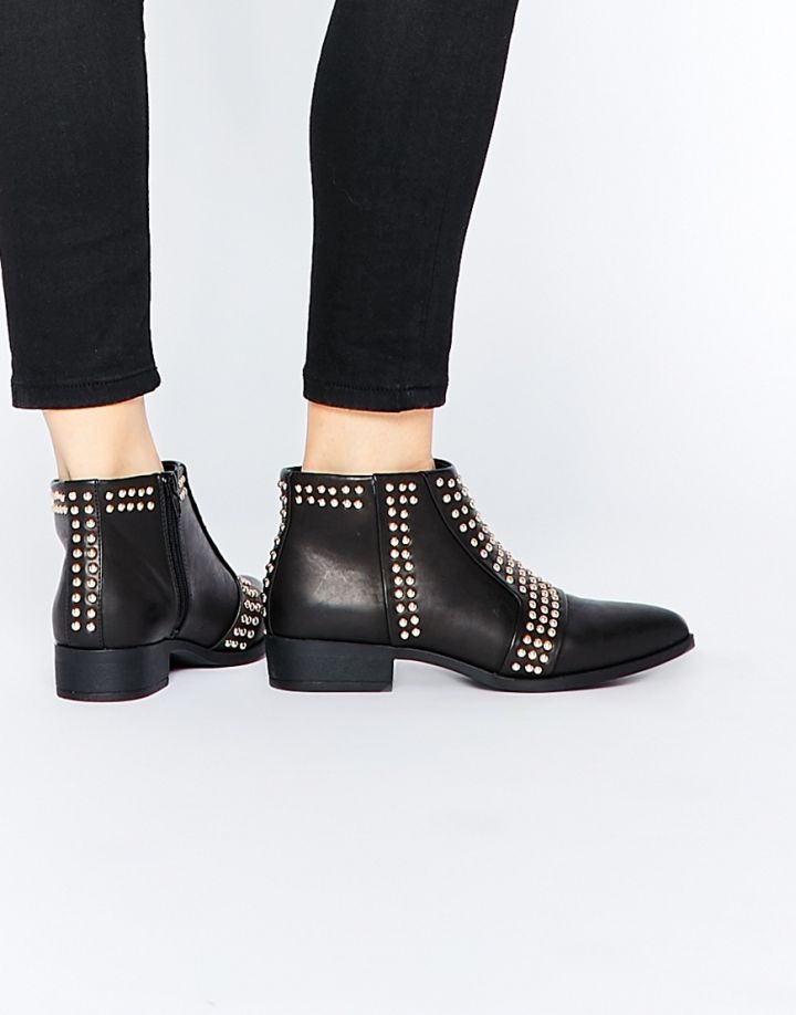 No: Open-Toe Sandals, Yes: Studded Ankle Boots