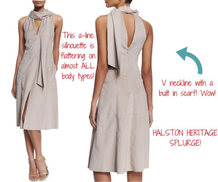 Halston Heritage || Sleeveless Ultrasuede® Dress With Scarf
