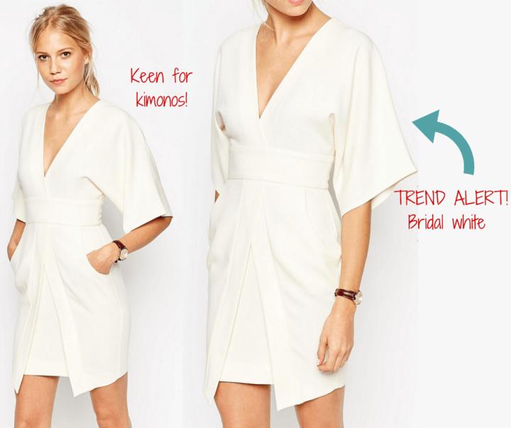 ASOS || Mini Asymmetric Pocket Dress with Kimono Sleeves