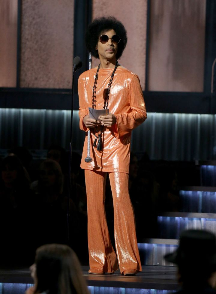 Prince at the 57th Annual Grammy Awards
