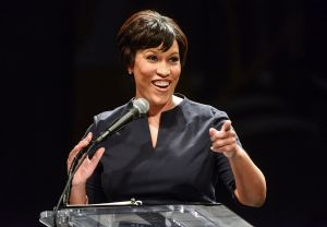 District Mayor Muriel Bowser delivers her first State of the District address at the Lincoln theater in Washington, DC.
