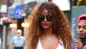 Celebrity Sightings In New York City - August 12, 2015