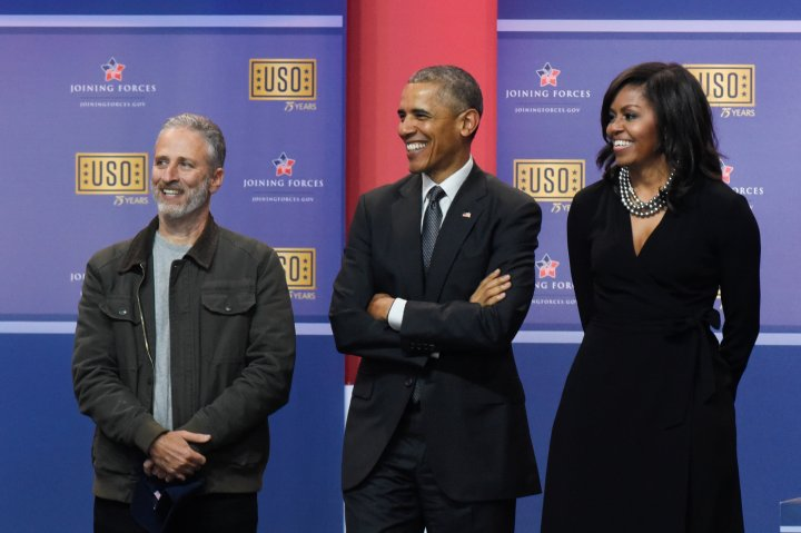 Obamas Attend 75th Anniversary USO Show