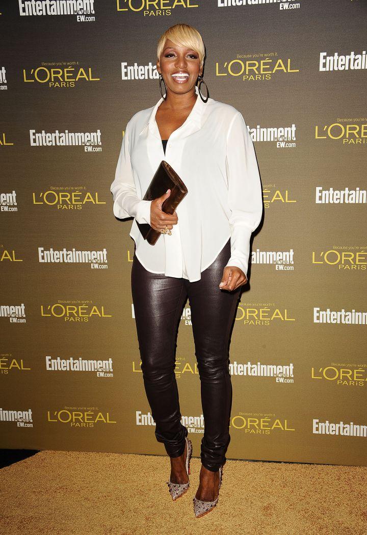 NeNe loves a good leather pant.