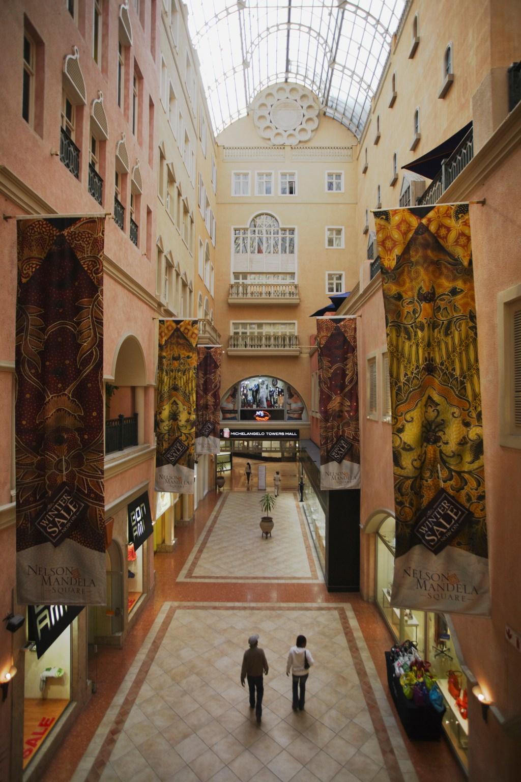 Interior of Nelson Mandela Square Mall, Sandton, Johannesburg, Gauteng, South Africa
