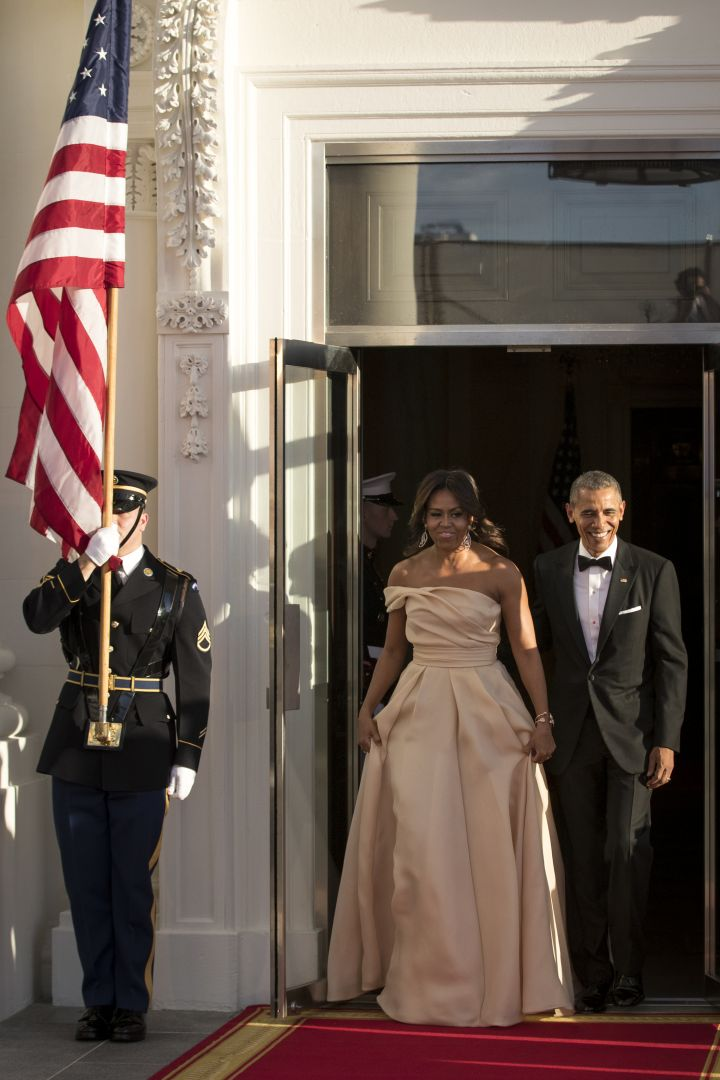 Barack & Michelle Arrive To The Nordic State Dinner