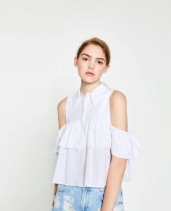 Zara White Top